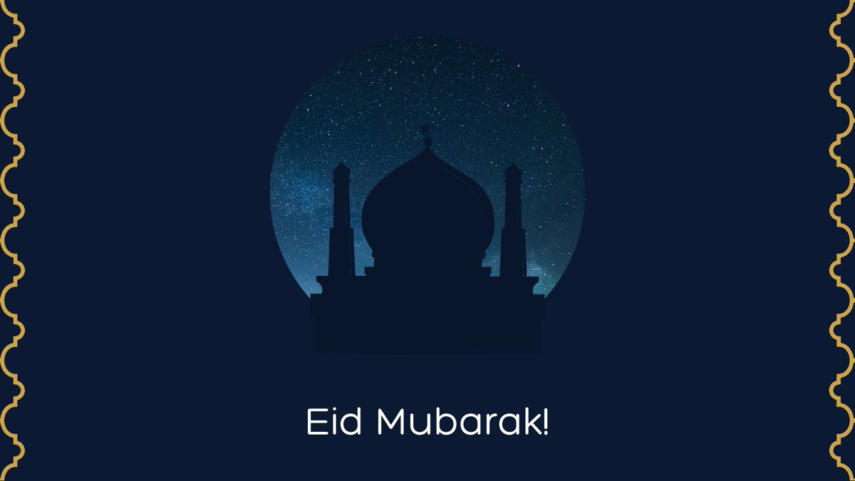Eid Mubarak! We hope you have a happy and peaceful celebration. https://t.co/T2vw7kZ8CG
