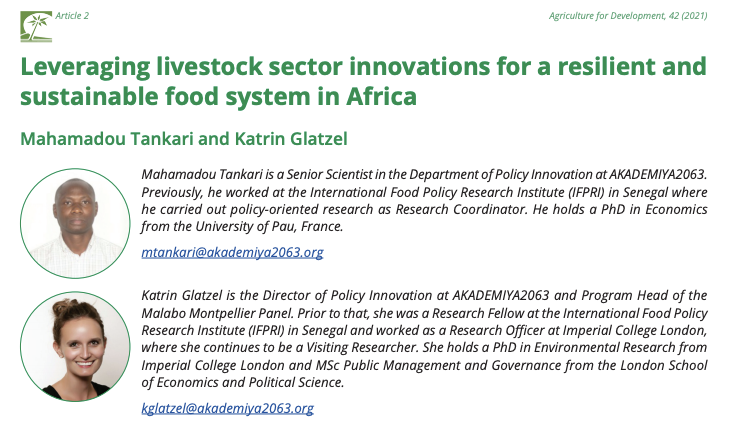 test Twitter Media - The new publication by @MamoPanel's @katringlatzel & @M_R_Tankari draws from our report on #Livestock.   Read more in the @TropicalAgri Issue 42, Spring 2021 journal👉 https://t.co/OkfcdZ6DG1 https://t.co/VCnPBI5y5m