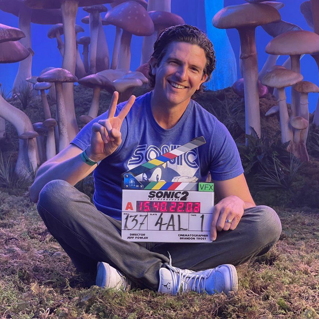 Filmagem de Sonic the Hedgehog 2 Diretor Jeff Fowler publica nova foto 1