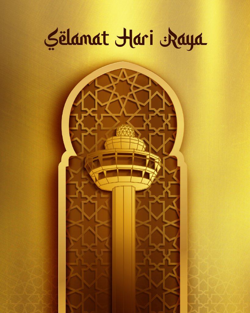 From all of us at Changi Airport, here's wishing all our Muslim friends Selamat Hari Raya! https://t.co/UDALaw3mKc