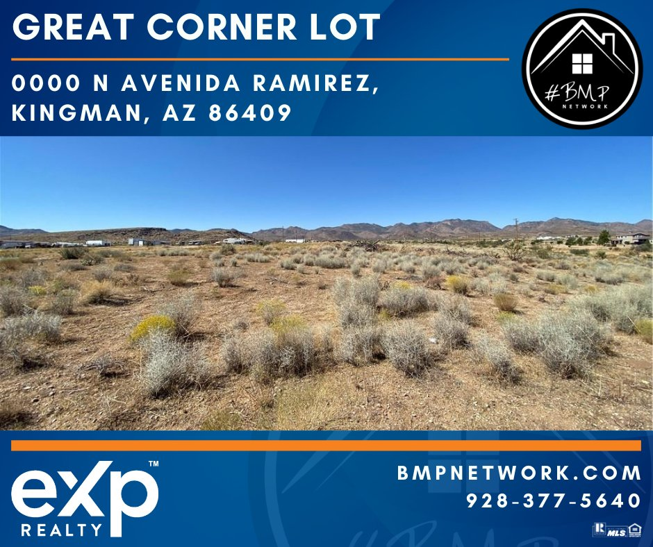 ⭐⭐ GREAT CORNER LOT!! ⭐⭐ More Info: hhttp://ow.ly/3mNI50BLhuw  BMP Network eXp Realty 928-263-6854  #RealEstate #Realtor #ForSale #LandForSale #LotsForSale #BuildYourDreamHome #eXpRealty #NewListing #HomesForSale #Property #Properties  #BMPNetwork #LandForSale #BMPBrian https://t.co/LisYyfgWQZ