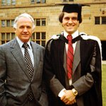 Image for the Tweet beginning: Malcolm Turnbull with his father