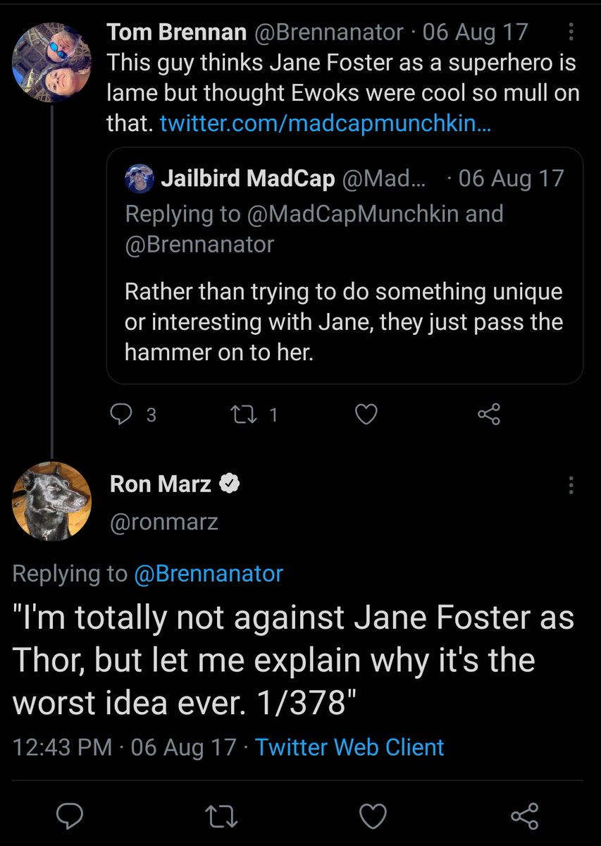 I remember when Tom Brennan and Ron Marz tried to strawman me into silence.  Good times. Good times.  #dickheads #losers