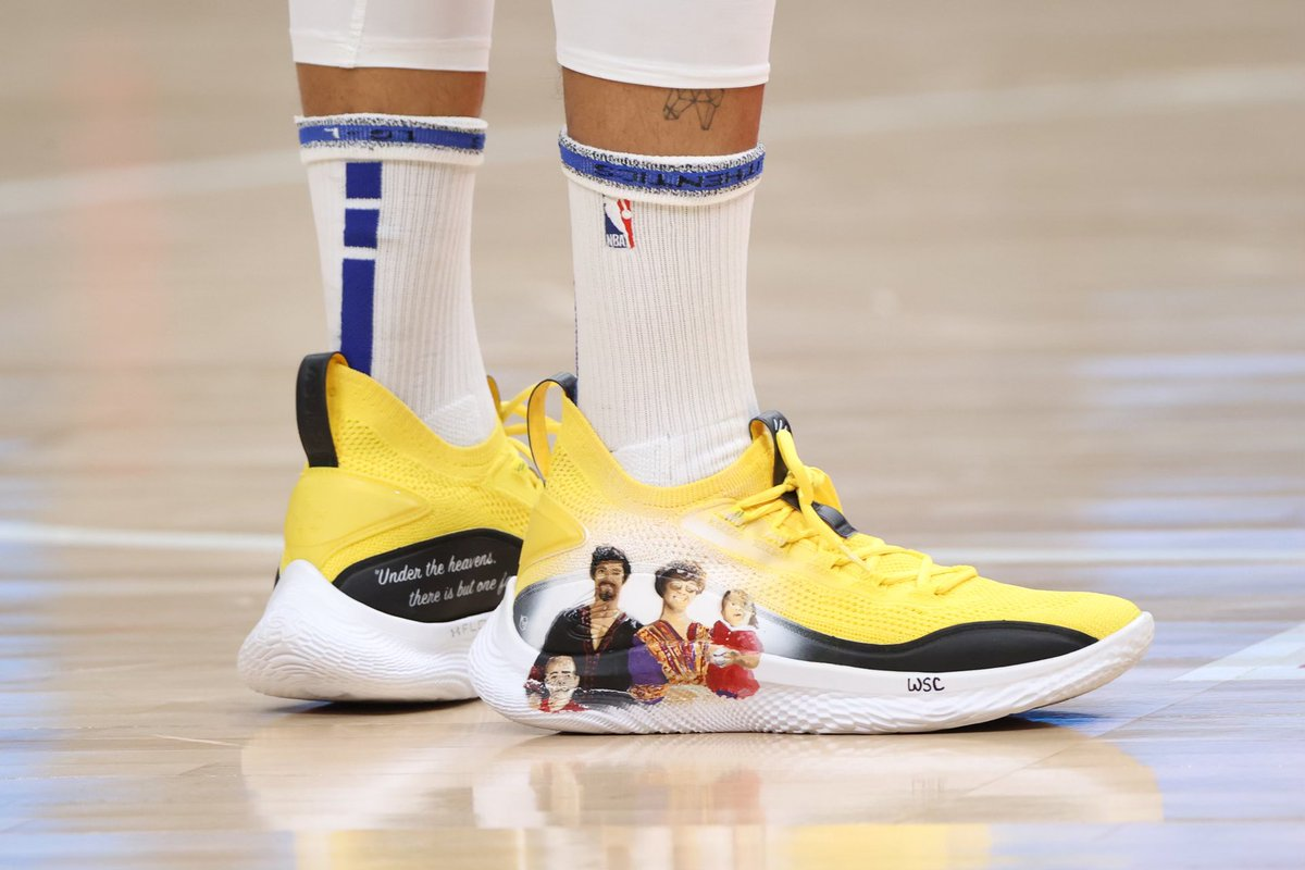 Time's ticking… Place a bid on my game-worn customs with @bruceleefdn and @goldinauctions. All proceeds go to Asian Americans Advancing Justice and families of the victims in Atlanta. We see you. We stand with you.