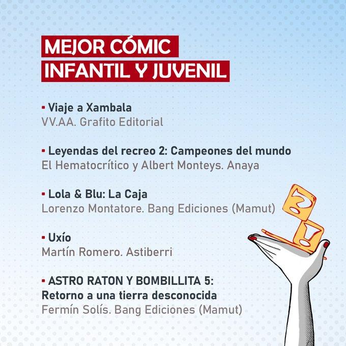 Mejor comic infantil y juvenil
