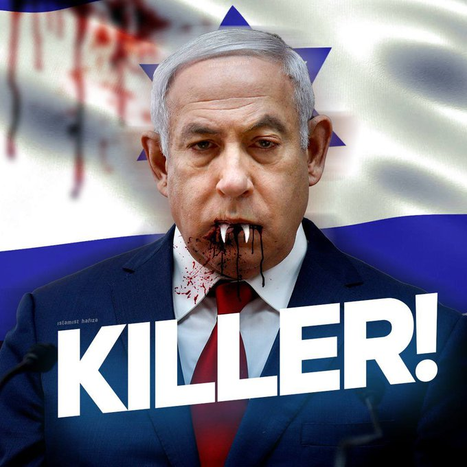 @netanyahu Hi @netanyahu you are cancer for humamanity. You are cancer for innocent palestinian. Shame on you. #IsraelTerrorist  #EidWithPalestine https://t.co/EtfubUCclF