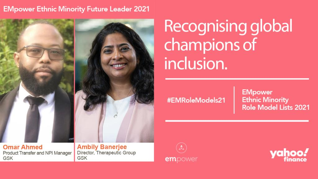 Congratulations to Ambily and Omar for being named as Ethnic Minority Future Leaders in the @EMpoweriB #EMRoleModels21 list for the second year ✨. The lists by @INvolvePeople celebrate role models in business driving the charge for inclusion. 👏 https://t.co/dRRGYR8ol6 https://t.co/0uw7TP8XtS
