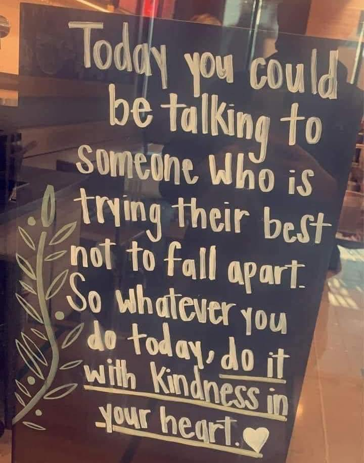Be kind 💛 https://t.co/MyPbSCCYK8