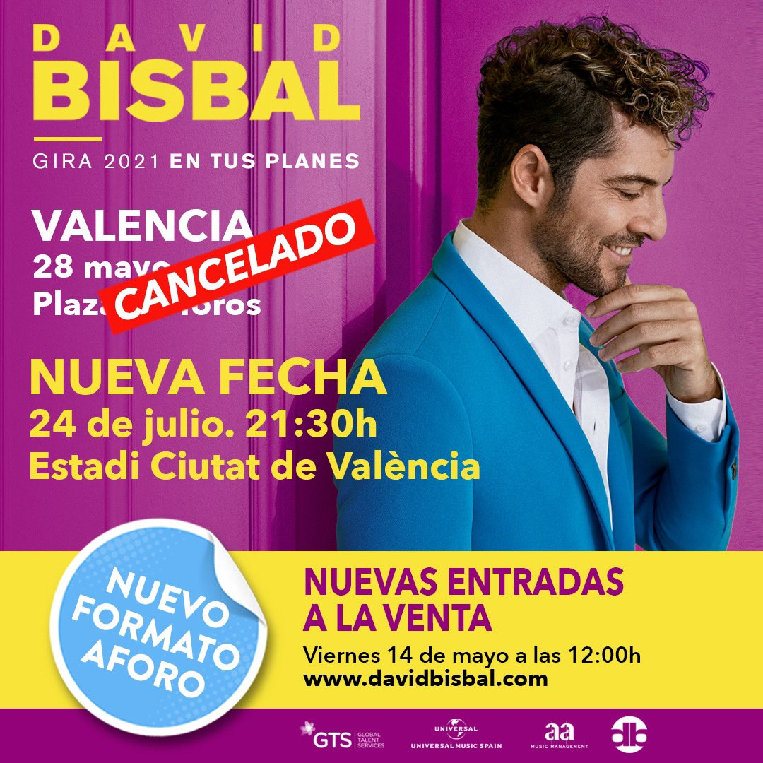 Replying to @UniversalSpain: #INFO • Concierto de @davidbisbal en Valencia