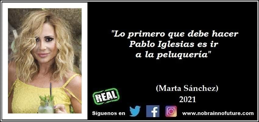 """BONUS TRACK DE FRASES REALES. Marta Sánchez (2021): """"Lo primero que debe hacer Pablo Iglesias es ir a la peluquería"""" @martisima_soyyo #martasanchez #PabloIglesias @PabloIglesias #Iglesias #coleta #peluqueria #secortalacoleta #4m #elecciones4M #Madrid #pablogana #acoso"""