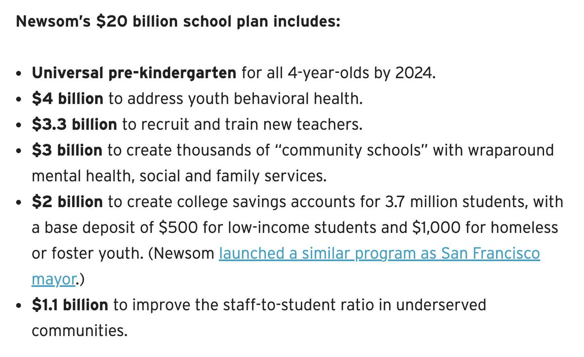 Gov. Newsom proposes dramatic new investments to #reimaginecaschools
