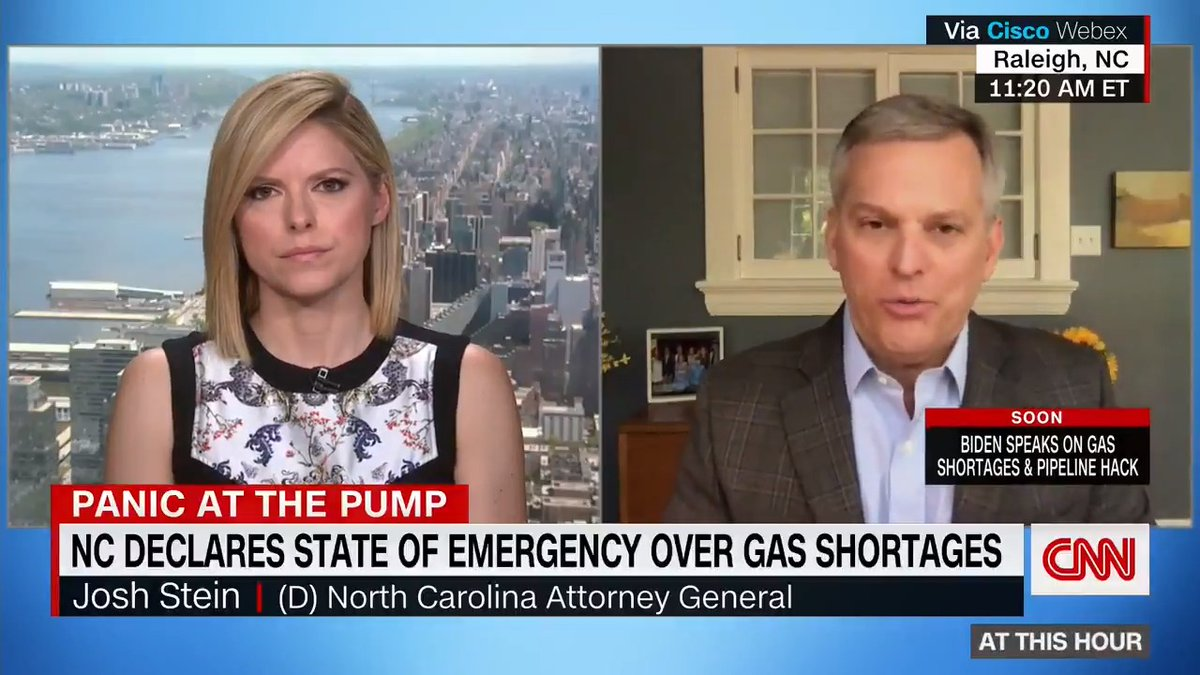 """North Carolina Attorney General Josh Stein said the state has received more than 600 complaints about price gouging gasoline over just two days. """"If I find price gougers, I will hold them accountable,"""" he said."""