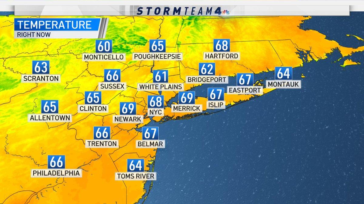 Temperatures at this hour #NBC4NY