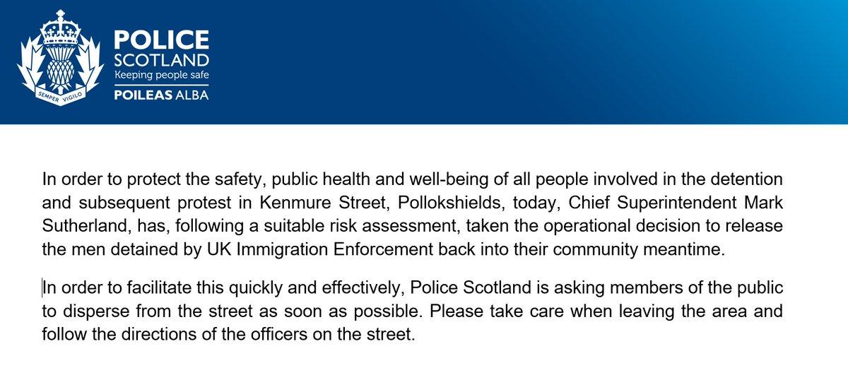 Updated statement on Kenmure Street, Glasgow https://t.co/1ELrLVZhOg
