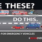 Image for the Tweet beginning: #MoveOverSlowDown for our police officers