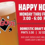 Make DJ's Dugout your happy place! Stop in for a little fun during our Happy Hour 3pm - 6pm Monday thru Friday! 🍻😁