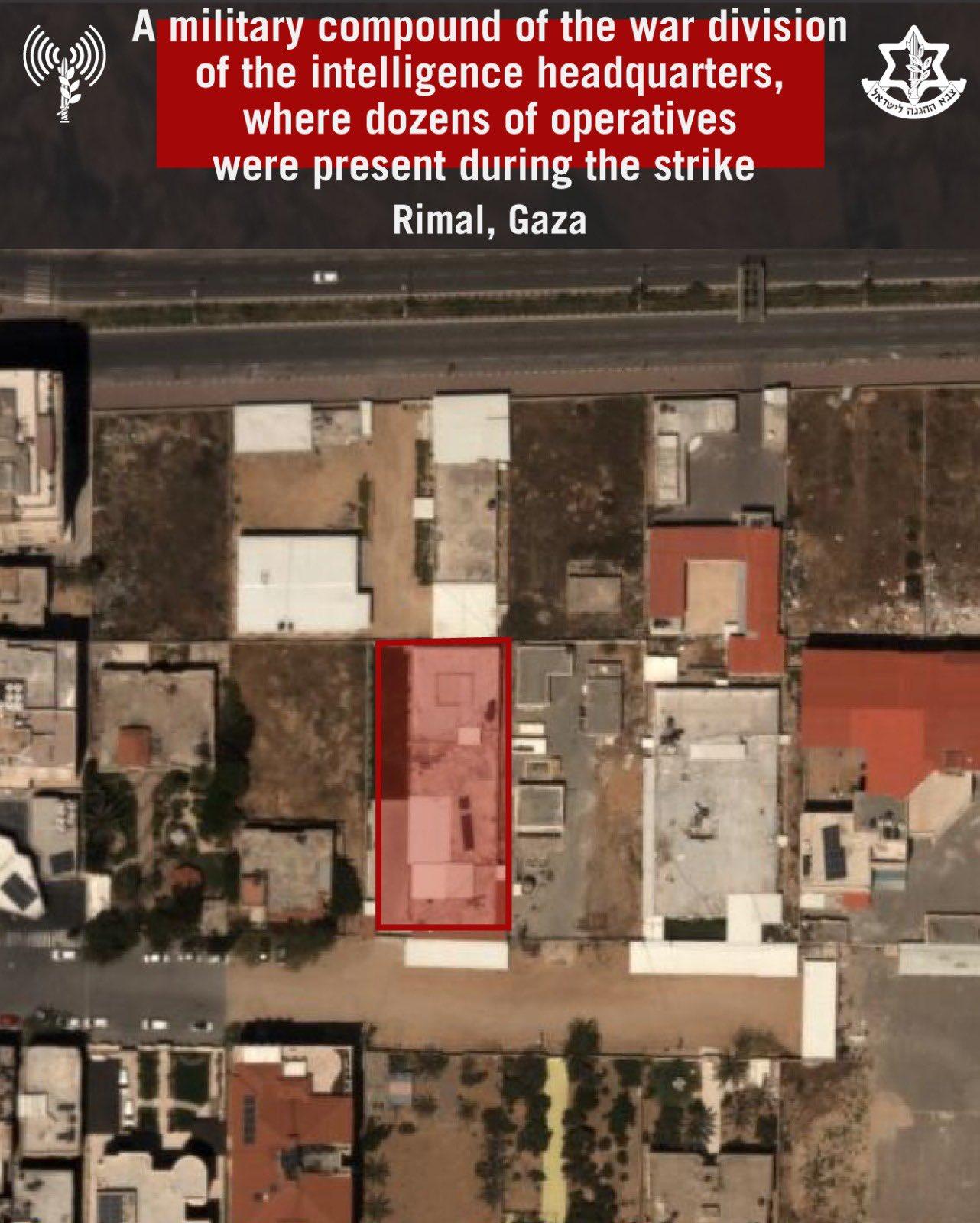 Complexo militar atingido por caças da IAF.