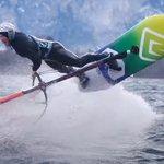 Image for the Tweet beginning: Balz Müller loves to windsurf