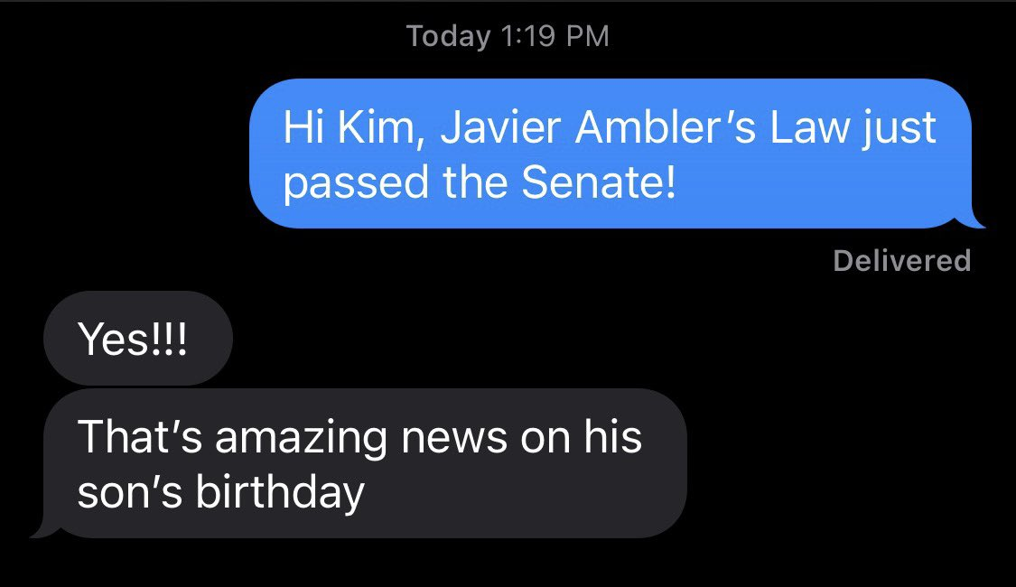 The Senate just passed Javier Ambler's Law banning police departments from contracting with reality TV shows!!  Here's what Javier's sister said when she heard the news. #txlege #BlackLivesMatter https://t.co/0EdKNVCOzx