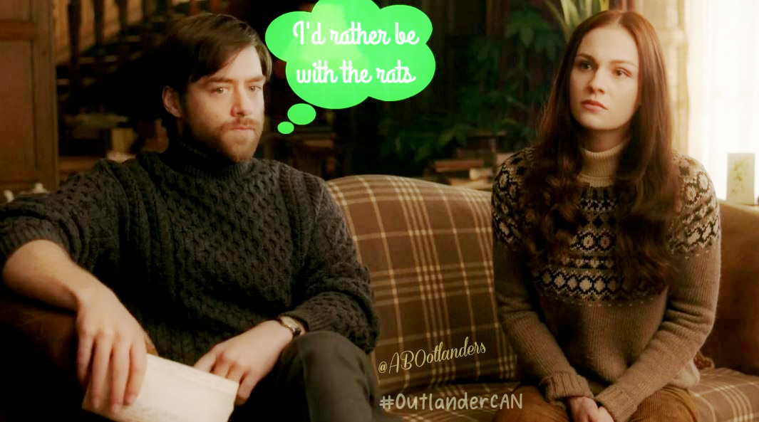That awkward moment when you choose the rats. #Outlander #RogerMac #MacNCheese #RogerNBree