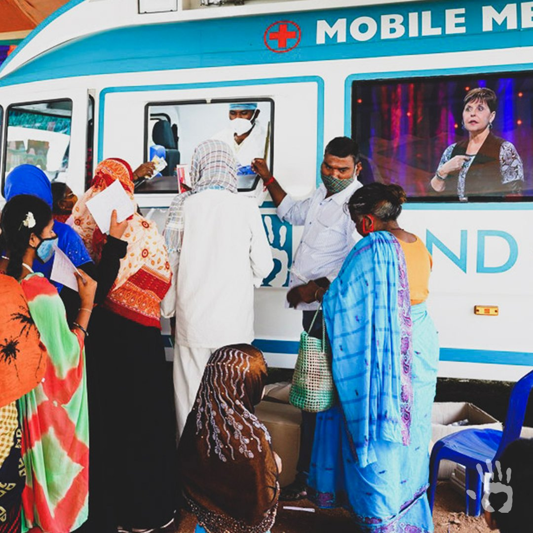 People on the outskirts of Hyderabad, India, had to walk nearly 15 miles for any sort of treatment. Now, because of you, our two mobile medical vans make it possible to bring healing—and the Word of God—directly to them! #HandOfHope #GiveHope https://t.co/dd6TyWdsX0