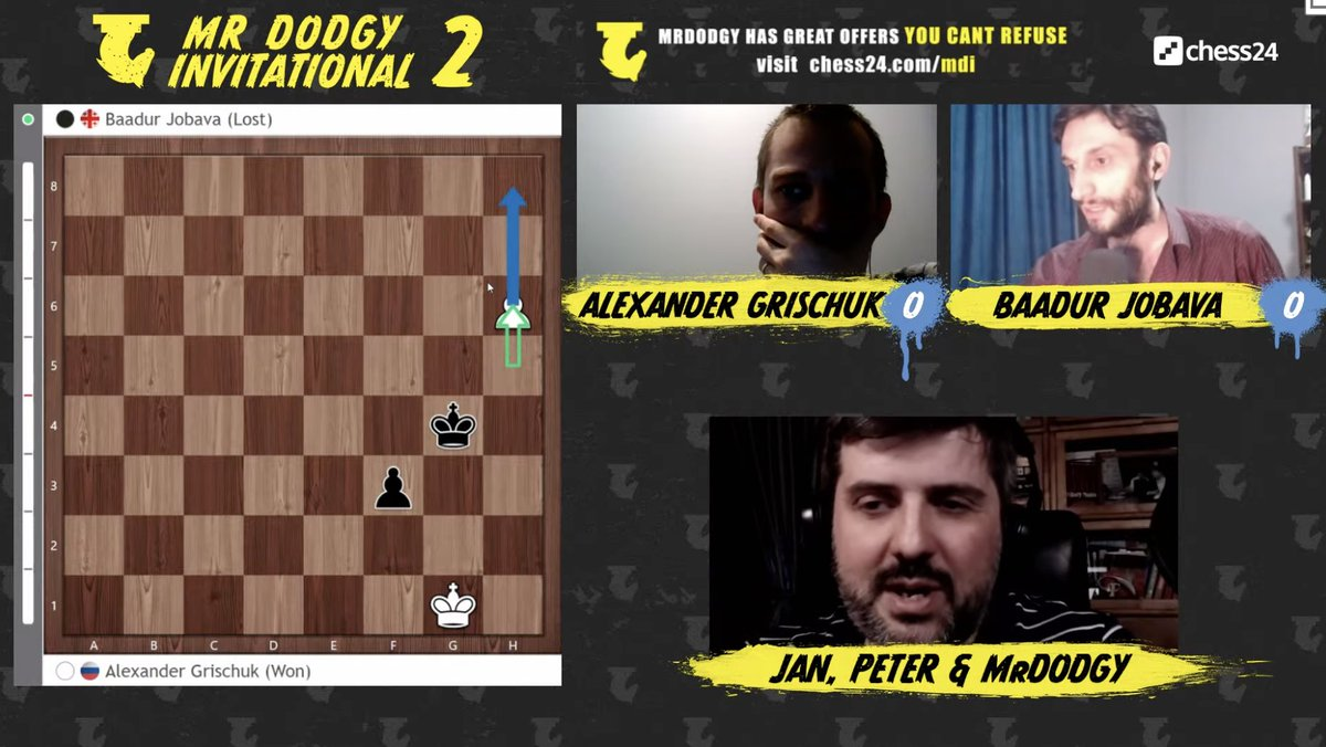 test Twitter Media - Alexander Grischuk opens with a win against Baadur Jobava! https://t.co/fHPUMtNW4v  #c24live #MDI2 https://t.co/ueRFALwHCZ