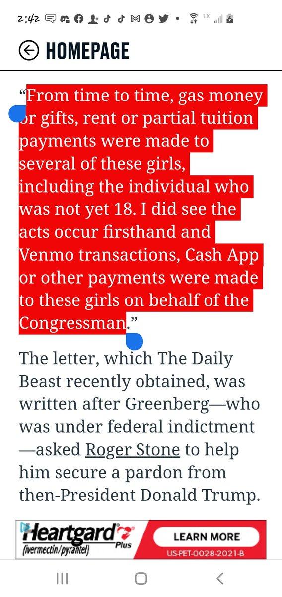 @RepMattGaetz Paying TEENAGE GIRLS? @GOP IS NOW HOME FOR #GROSSOLDPARTY @GOPLeader @GOPoversight @LindseyGrahamSC @SenTedCruz @MarshaBlackburn  #GOPCowards @HouseGOP #AmericaFirst #PATRIOTS  #Trump2024 #CapitolRiot #January6th @FoxNews @Liz_Cheney #CheneyVsBigLie  #BIGLIE https://t.co/b2U7tItKDL