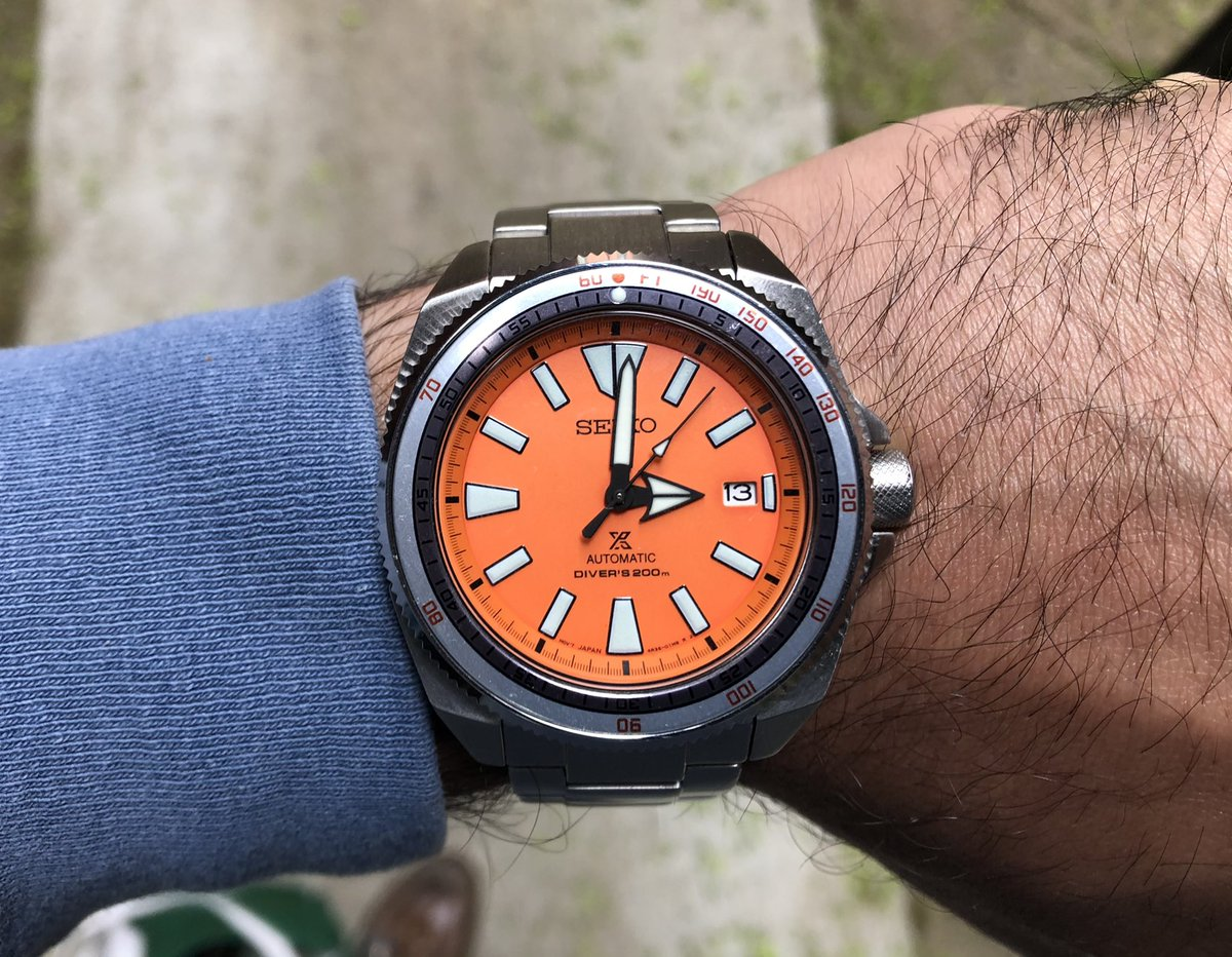 #Soxa action for today..   #Seiko #SeikoSamurai #SRPC07 #Doxa #SeikoDoxa #orangesamurai @seikowatches #seikomod https://t.co/OtkqChqFZ9