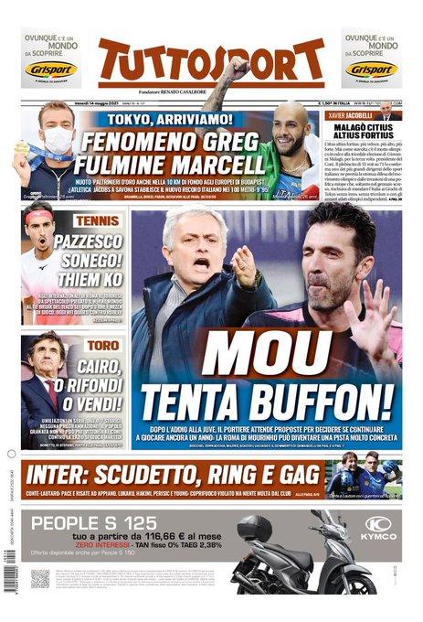 توتوسبورت :مورينيو يغري بوفون!بعد وداعه