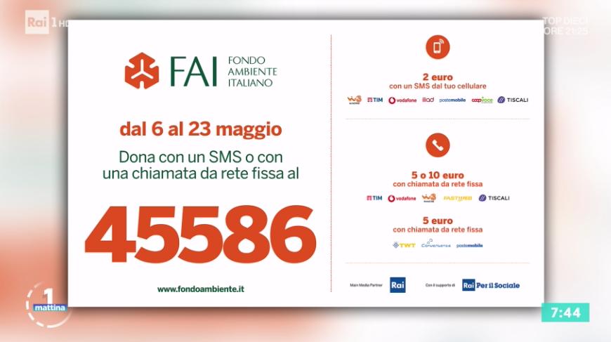 RT @Unomattina: Puoi sostenere il @Fondoambiente c...