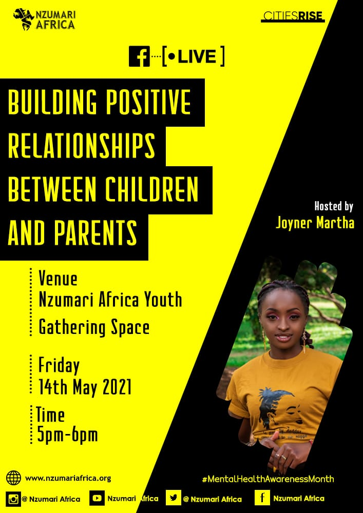 Tune in today evening between 5 to 6pm for a Facebook Live on building positive relationships between children & parents & how it impacts our mental health. Follow link below to join our Facebook group.   #MentalHealthMatters  #MentalHealthAwarenessMonth