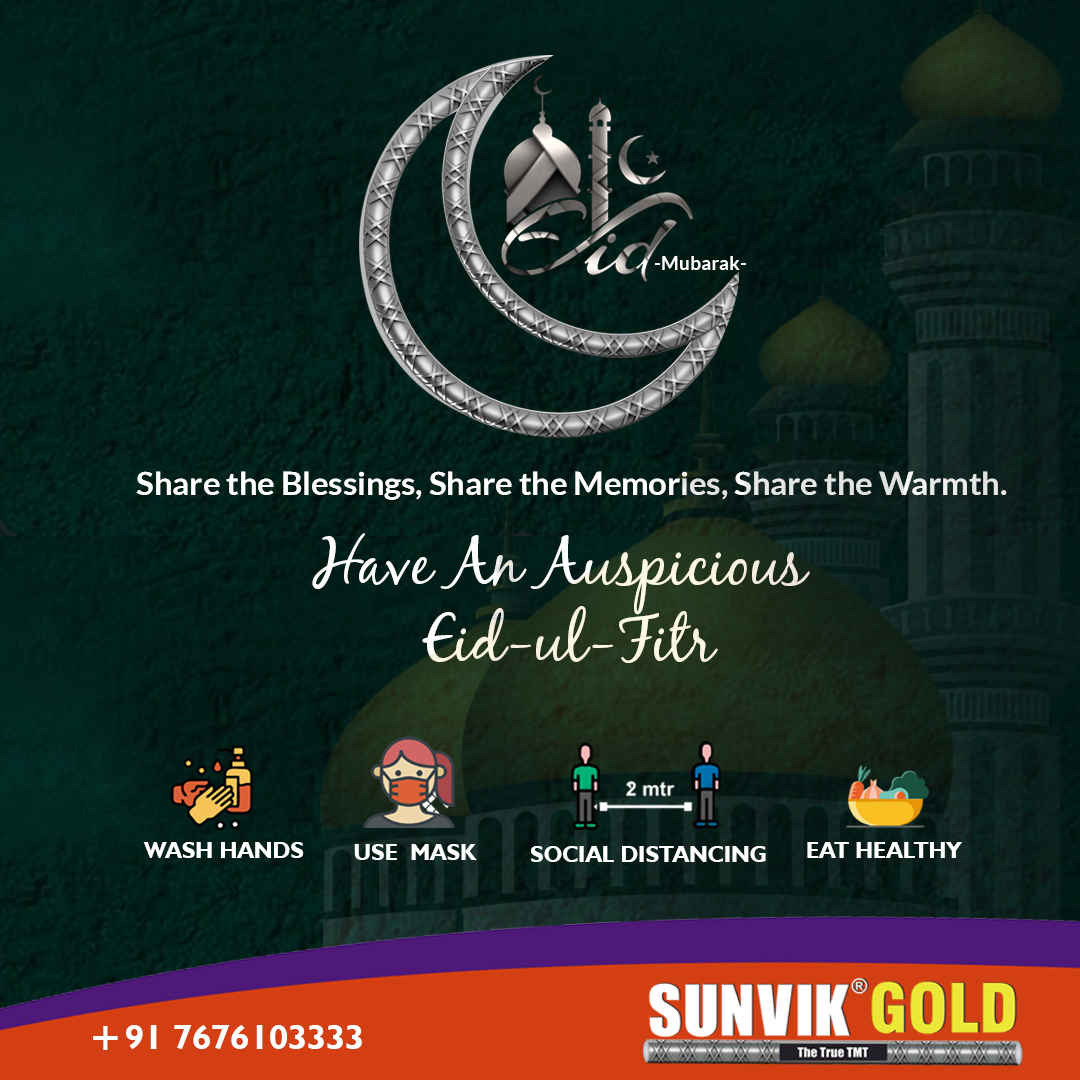 Share the Blessings, Share the Memories, Share the Warmth. Have An Auspicious  Eid-ul-Fitr  #SunvikSteels #TMTsteel #Rods #Innerstrength #Innerstrengthmatters #SteelWork #Durable #Steelindustry #Construction #Constructionindustry #Constructionlife #Bengaluru https://t.co/ezepxBWd7r