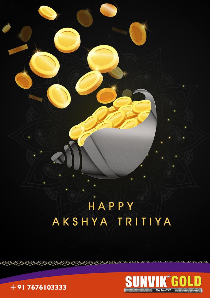 Wishing you days full of joy, prosperity and pot full of happiness and wealth. Happy Akshaya Tritiya. #SunvikSteels #TMTsteel #Rods #Innerstrength #Innerstrengthmatters #SteelWork #Durable #Steelindustry #Construction #Constructionindustry #Constructionlife #Bengaluru https://t.co/5LUqBqTGAt