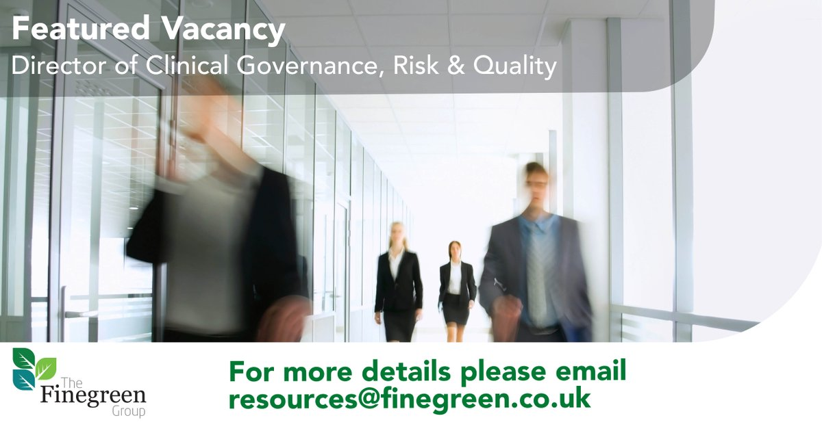 **Featured Vacancy** Director of Clinical Governance, Risk & Quality, South Central  For more details and to apply; https://t.co/tiuip3hMUi  #NHSJobs #ClinicalGovernance #Leadership #Interim https://t.co/ohGAv9mVUc