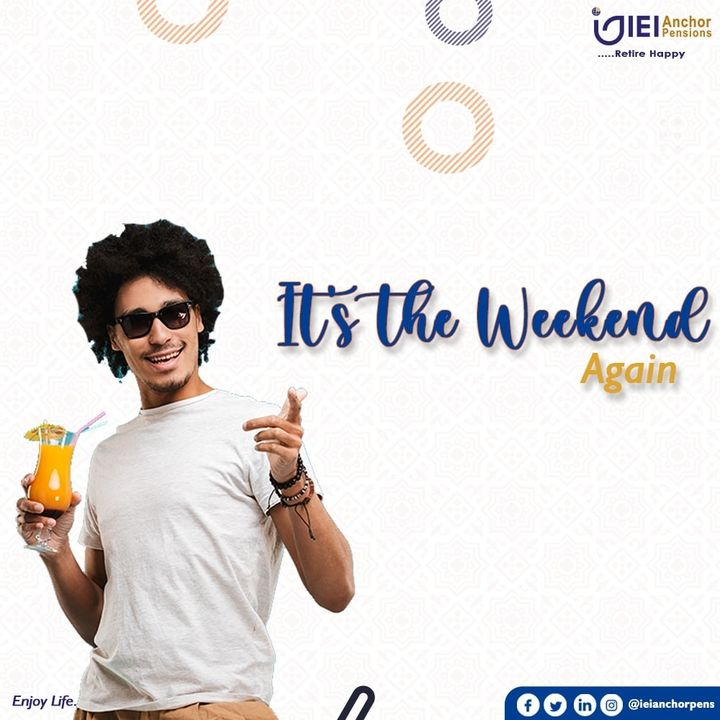 It is another WEEKEND Again. How do you intend to spend yours? #FridayFeeling #weekendvibes✌️ #weekend #ieianchorpensions #retirehappy #pensionnigeria #transferwindow #pfa #retirementplan #benefits #DataRecapture #enjoylife https://t.co/yek0CEmo0u