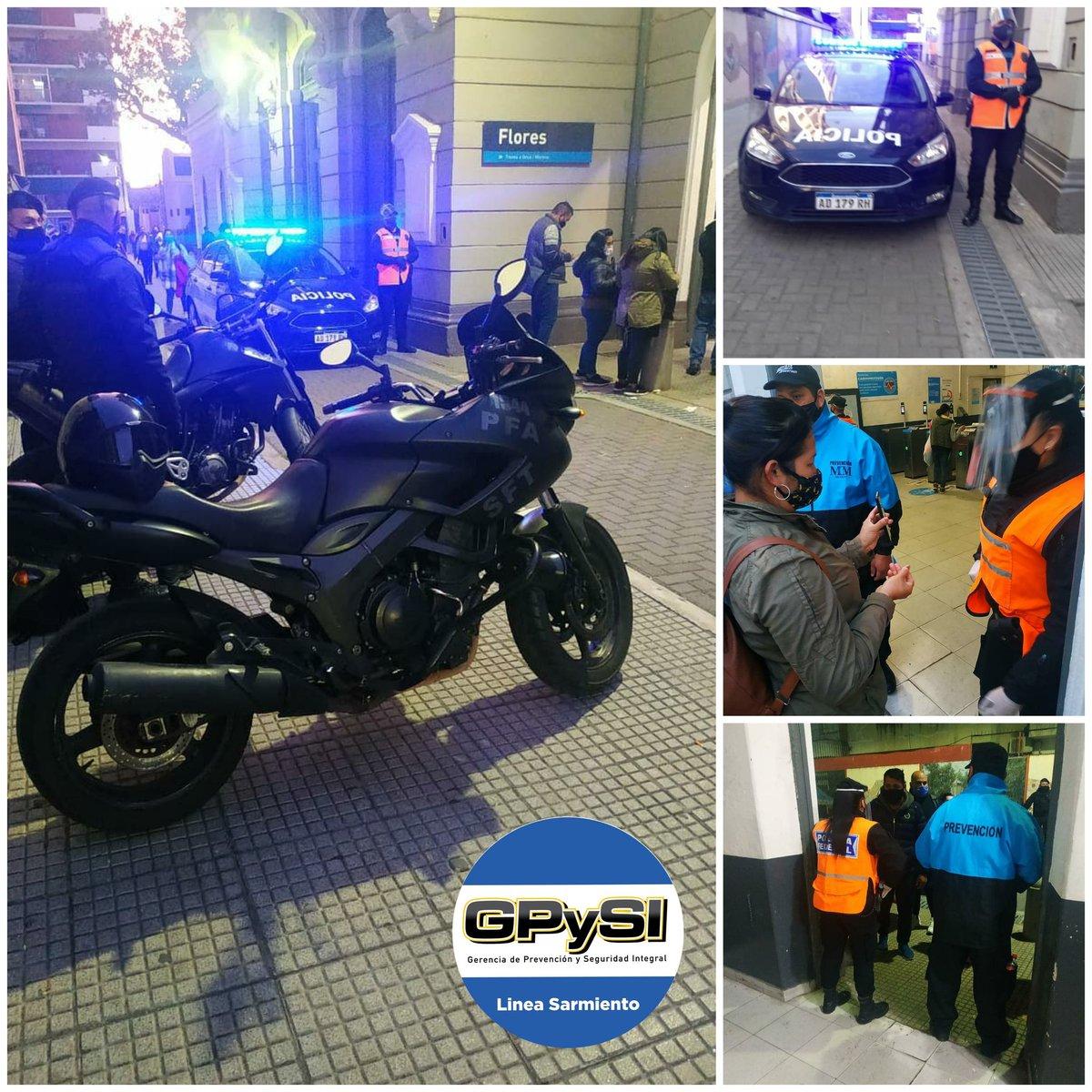 [PREVENCIÓN] Operativo de control y seguridad al pasajero , se llevo a cabo el día de ayer en la estación Flores de la #LineaSarmiento por personal de la #GPySI y #PFA . https://t.co/9h0cAVoB9y