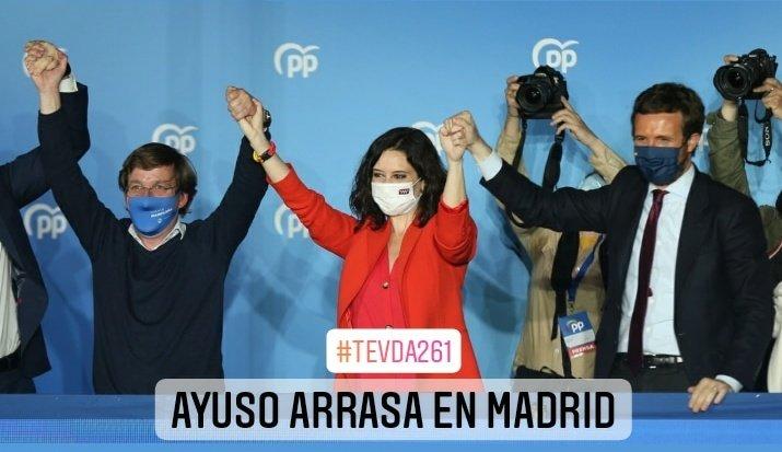 """""""Ayuso arrasa en Madrid"""":    #EstadoDeAlarma #ToqueDeQueda #Covid19 #Covid_19 #COVIDー19 #Confinamiento #Coronavirus #Covid #AstraZeneca #Pfzier #Janssen #Moderna #Elecciones #EleccionesMadrid #Elecciones4M @jjaranaz94 #FelizViernesATodos #FelizFinde #TEVDA"""