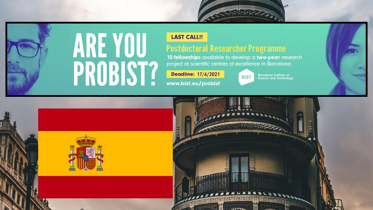 BIST Postdoctoral Fellowship Programme 2021 in Barcelona, Spain