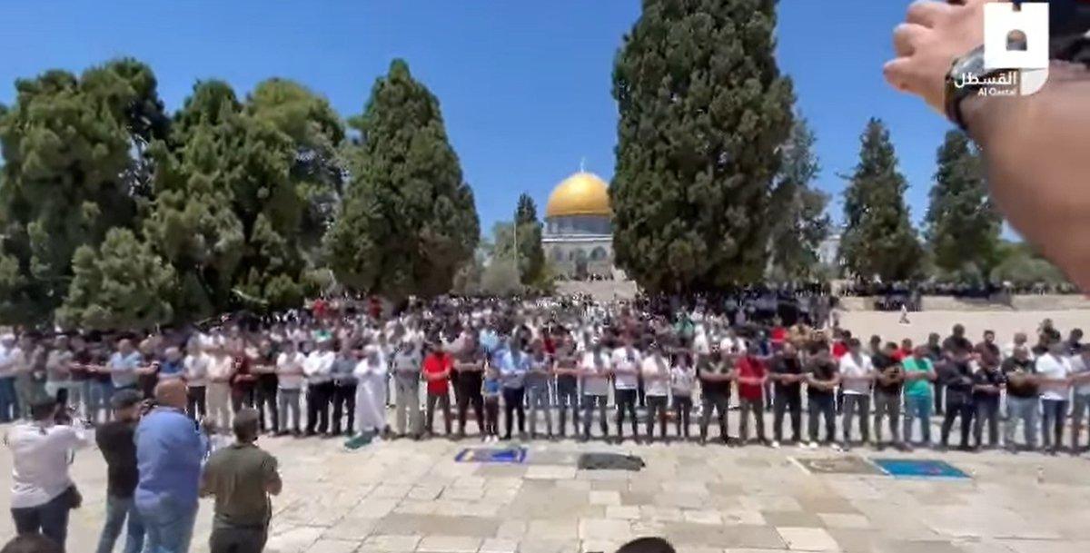 "اسرائيل في البحرين ""  Prayers this afternoon at Al-Aqsa …"