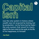 Image for the Tweet beginning: Capitalism isn't perfect, but name