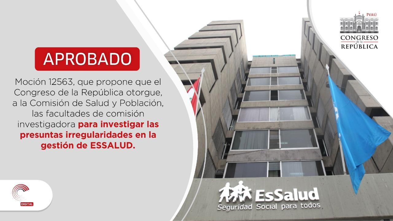 """Congreso del Perú on Twitter: """"#PlenoVirtual aprobó, con 86 votos a favor,  la Moción 12563.… """""""