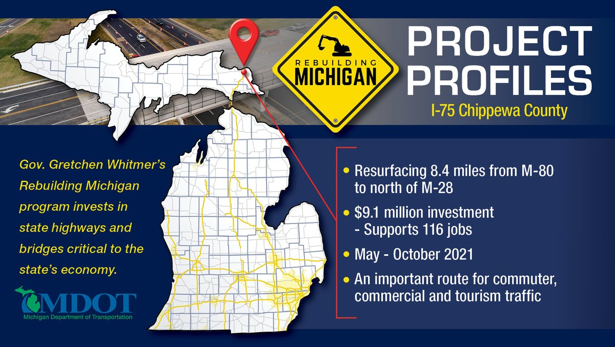 Image posted in Tweet made by Michigan DOT on May 14, 2021, 3:18 pm UTC