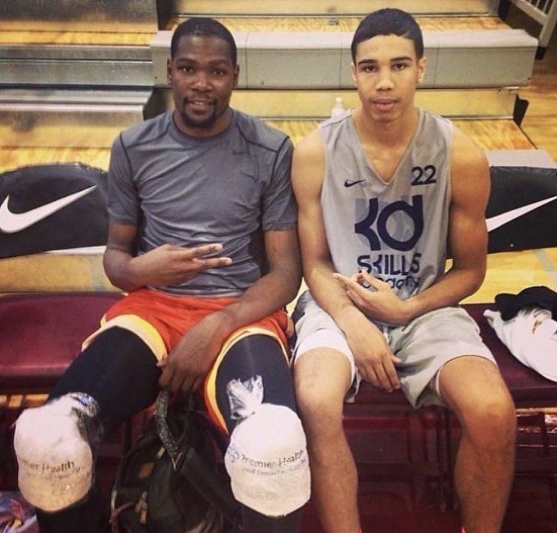 RT @BostonCelts4eva: Kevin Durant to Jayson Tatum in 2014:
