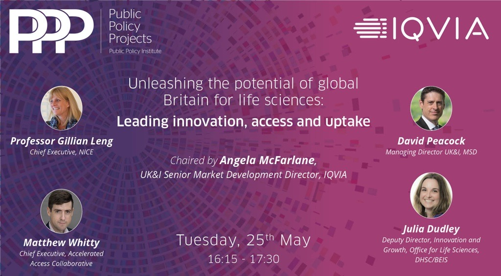test Twitter Media - 📺: 'Unleashing the potential of global Britain for life sciences: Leading innovation, access and uptake' 🎙️: @GillianLeng (@NICEComms), @DavidPeacock_ (@MSDintheUK), @mgwhitty (@AACinnovation) & Julia Dudley (@DHSCgovuk)  📅: 25th May, 4:15-5:30pm ✔️: https://t.co/jMGOv816TL https://t.co/L8J0b7Q5cj
