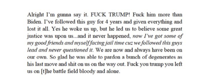 Proud Boy leader Ethan Nordean lashed out at Trump on Jan. 20, when it dawned on him that he'd likely be going to jail for the ex-president, according to new messages revealed by prosecutors last night. https://t.co/JX1MvvsGR2