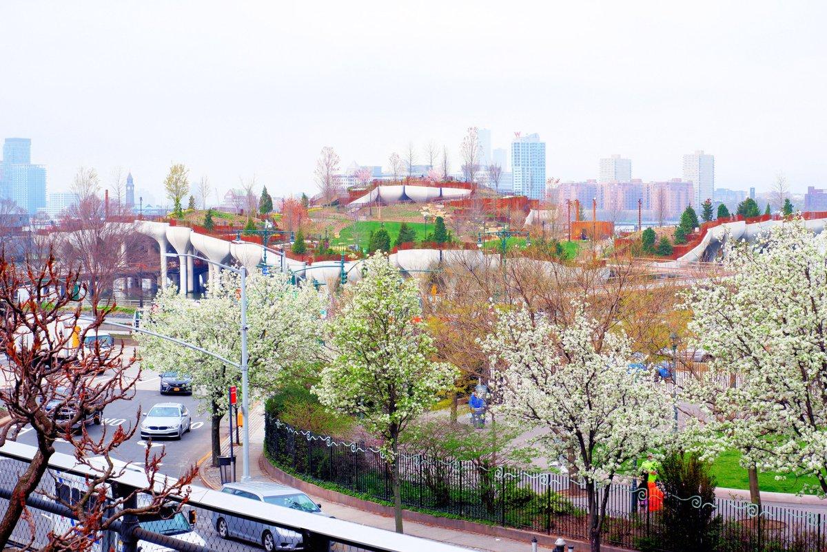 Blick auf den neuen Little Island Park vom High Line Park aus!