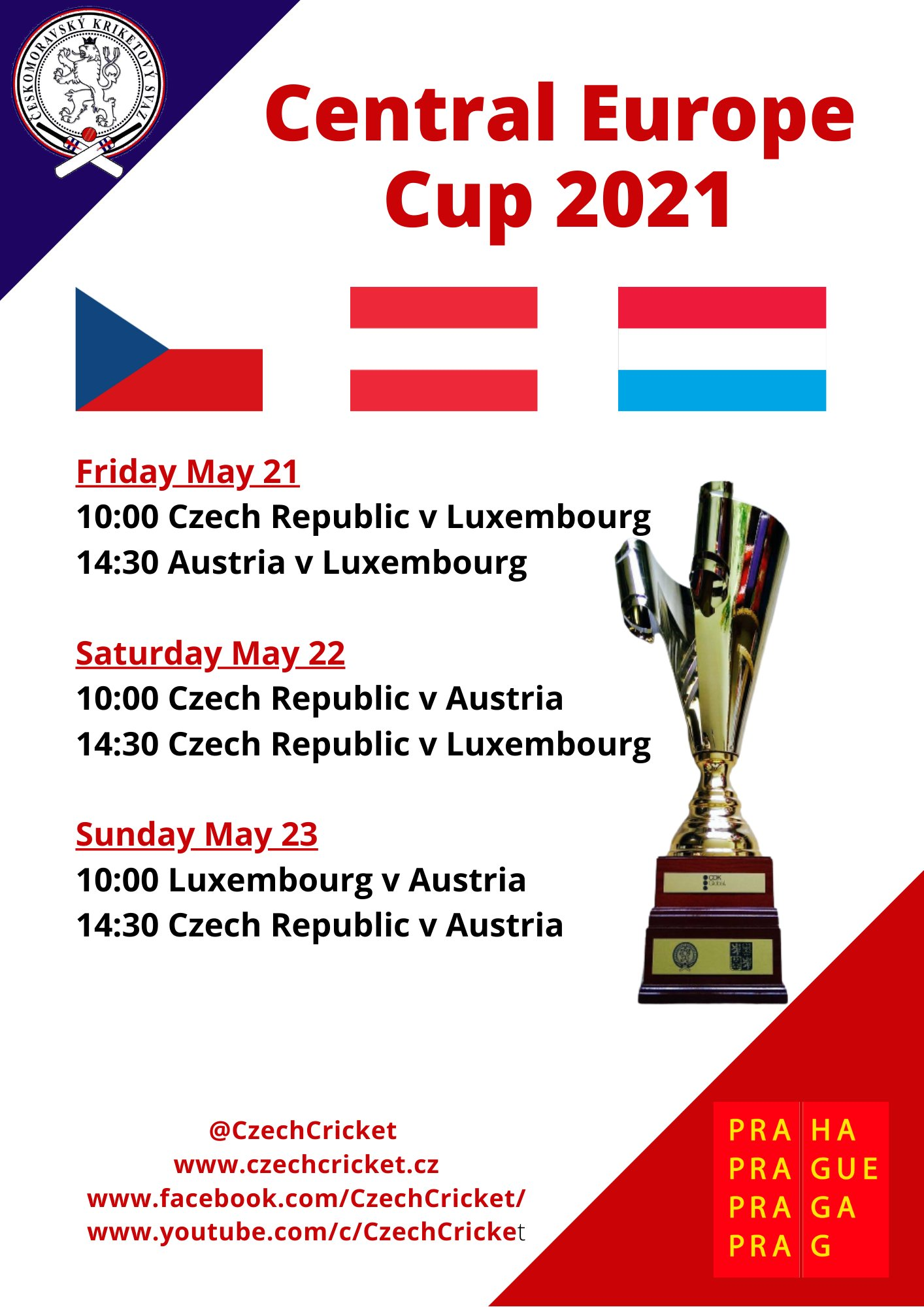Central Europe Cup t20 2021 Schedule