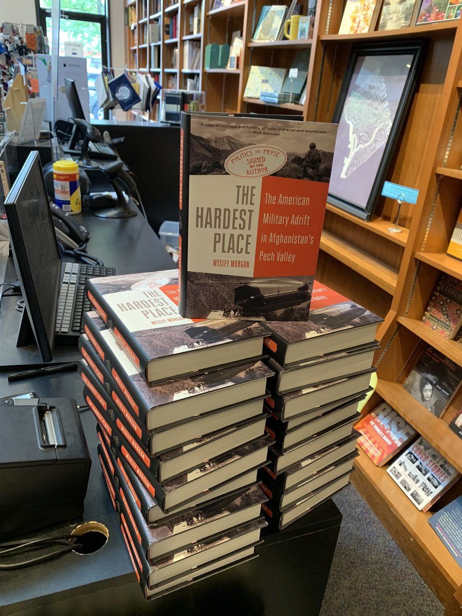 Very fun to get to sign a bunch of books at @politicsprose, where I wrote a good chunk of THE HARDEST PLACE over the years and which is hosting a discussion of the book with @martharaddatz next Thursday, May 20, at 4pm  Register for the event here: https://t.co/oC4Sle3SQh) https://t.co/p9U5TAppbp