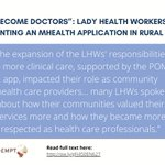 Image for the Tweet beginning: Just published! 📣Lady Health Workers'