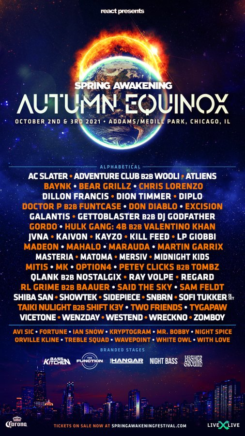 Spring Awakening Autumn Equinox Lineup